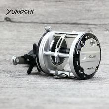 YUMOSHI JCA200/300/400/500 döküm davul tekerlek 12 + 1 rulmanlar Bait döküm balıkçılık Reel carretilhas De Pescar tuzlu su için