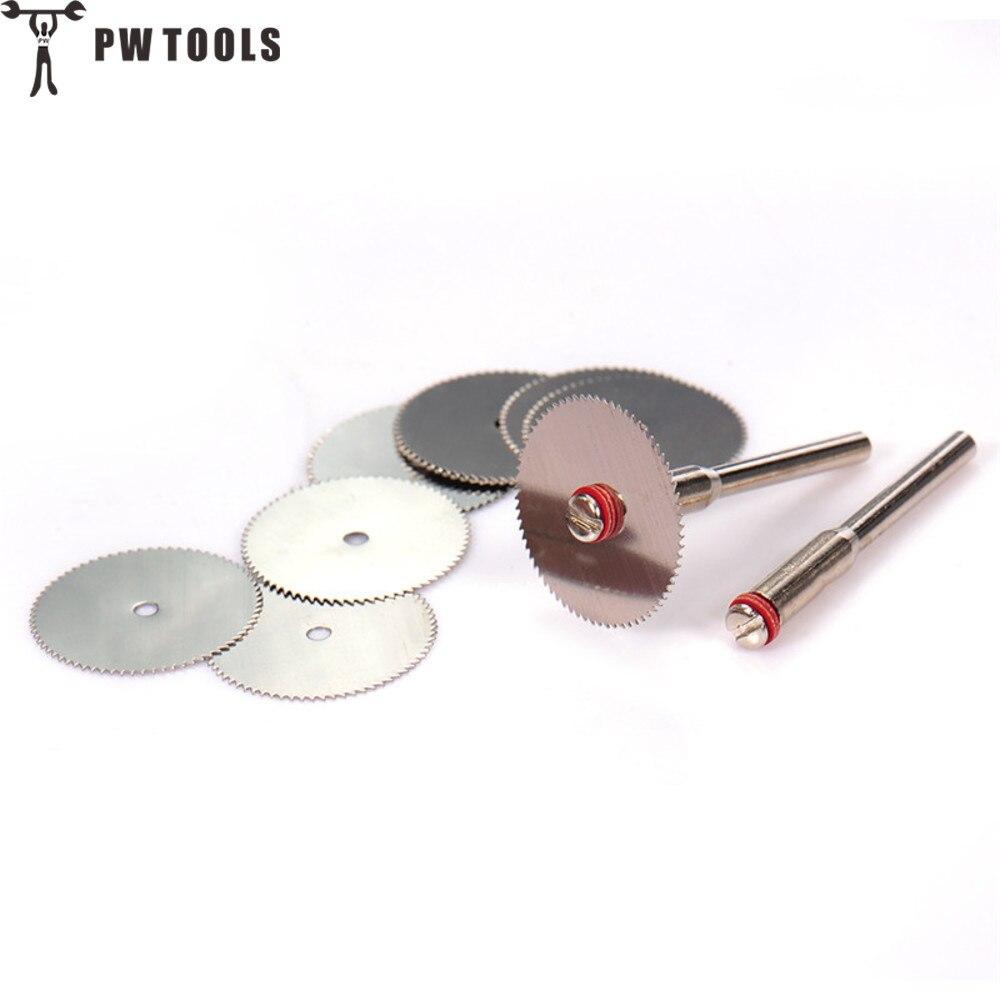 10 unidades, disco de corte de 22mm, herramienta abrasiva de acero inoxidable, Rueda de corte reforzada con 2 mandriles, Mini taladro, accesorios de herramienta giratoria