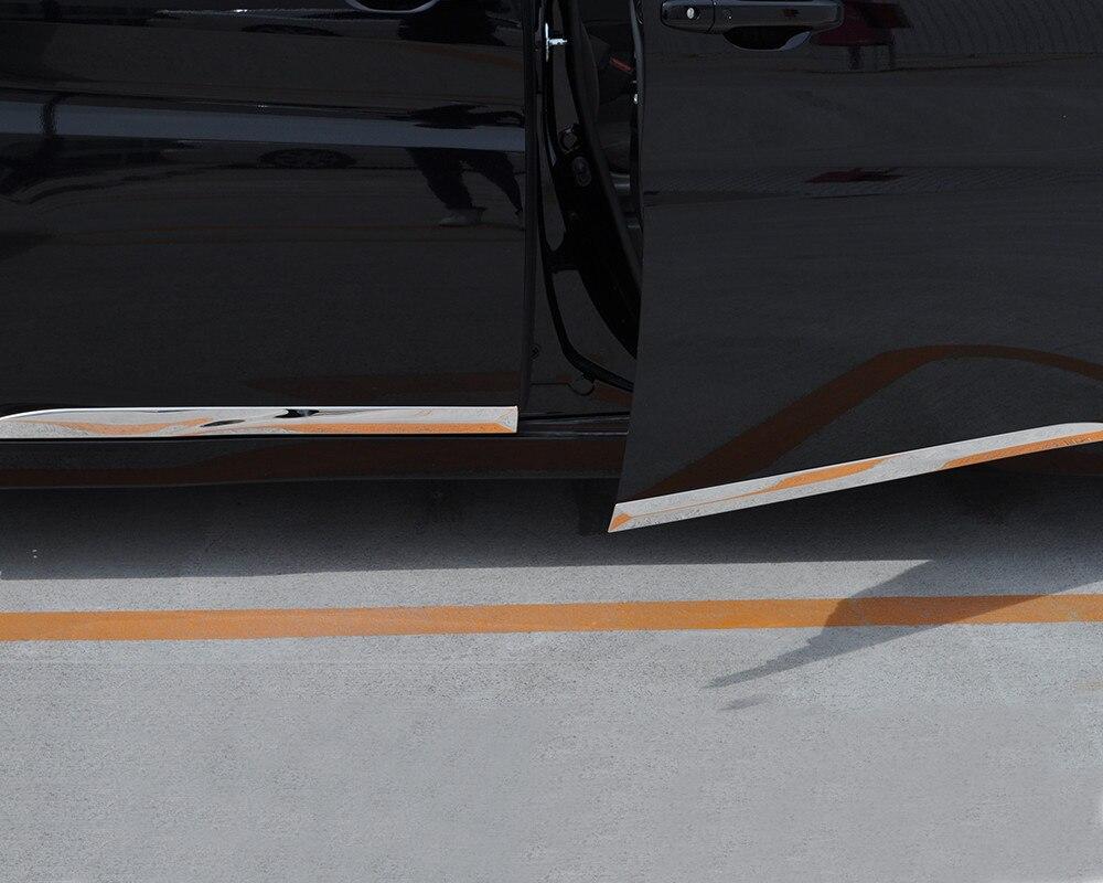 JY 4 piezas SUS304 puerta de acero inoxidable borde lateral inferior cubierta de diseño de coche accesorios de pegatina para HONDA STEPWGN RP 2015