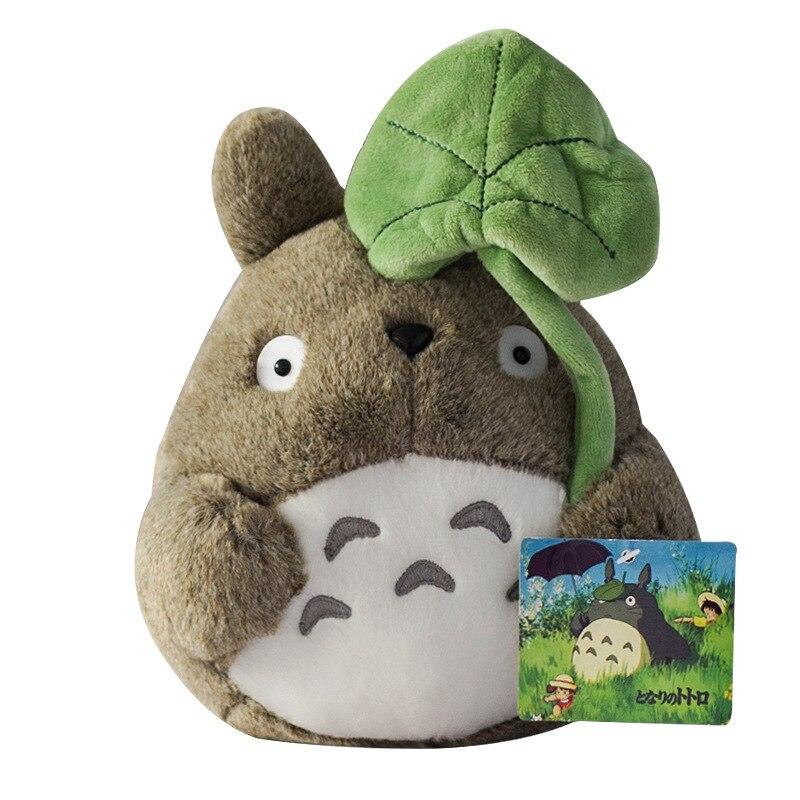 My Neighbor Totoro Plush Toy Cute Soft Doll Tonari No Totoro Model With Lotus Leaf Kids Toys Cat Gifts 20cm 8 Inch Movies Tv Aliexpress