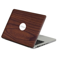 """Venatura del legno scuro Laptop Decal Sticker Pelle Per MacBook Air Pro Retina 11 """"13"""" 15 """"vinile Mac Notebook Case Corpo Pieno Della Copertura Della Pelle"""