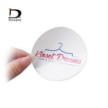 Étiquettes autocollantes en papier dart avec logo personnalisé   Étiquette en pvc, autocollant transparent de forme personnalisée, 1000 pièces/lot