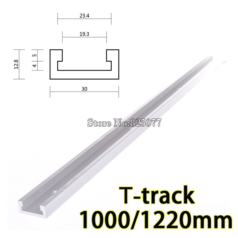 DHL 2PCS 1000mm (40inch) Standard Aluminium T-tracks Miter Track/Slot For Router Table Band Saw T-tracks KF867