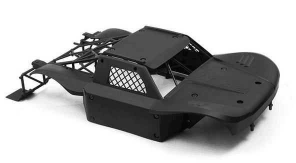 Carro rc anti-acidente corpo de náilon escudo + rolo gaiola kit anti wear capa do corpo do carro para losi 5ive-t lt km x2 lobo preto