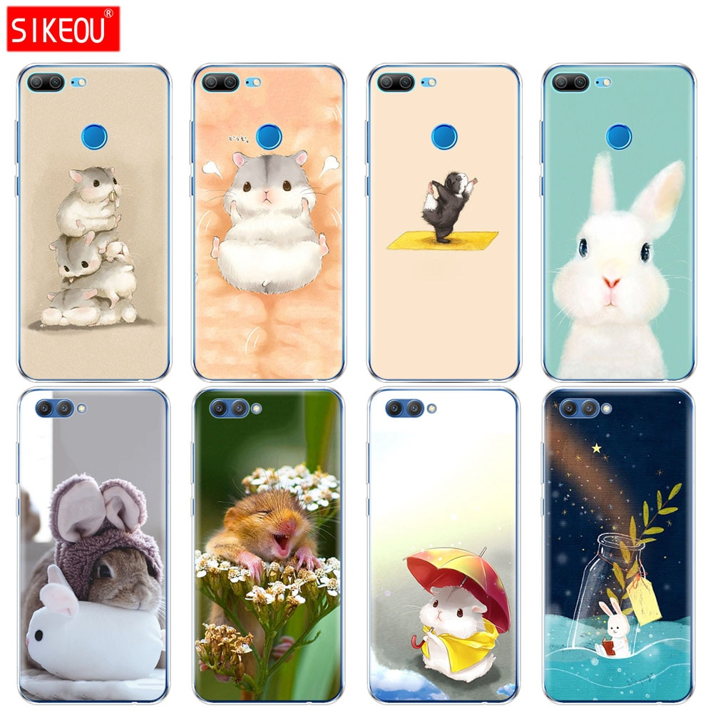 Silicone Case Capa do telefone para Huawei Honra 3c 10 V10 4C 5c 5x 4A 6A 6C pro 6X7X6 7 8 9 LITE Coelho rato Hamster
