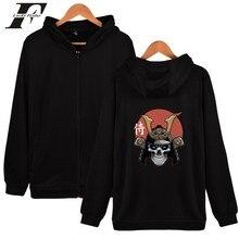 Samurai mode lustige hip hop zipper männer frauen hoodies jacken casual zip up unisex langarm mit kapuze sweatshirts mantel tops 4XL
