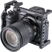 Caméra en aluminium Cage plate-forme poignée Film bras support support stabilisateur pour nikon z z6 z7 moniteur de Microphone vidéo