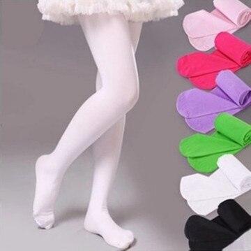 Collants de printemps couleur bonbon pour enfants   Collants en velours uni et blanc pour filles, collant de danse Ballet pour enfants