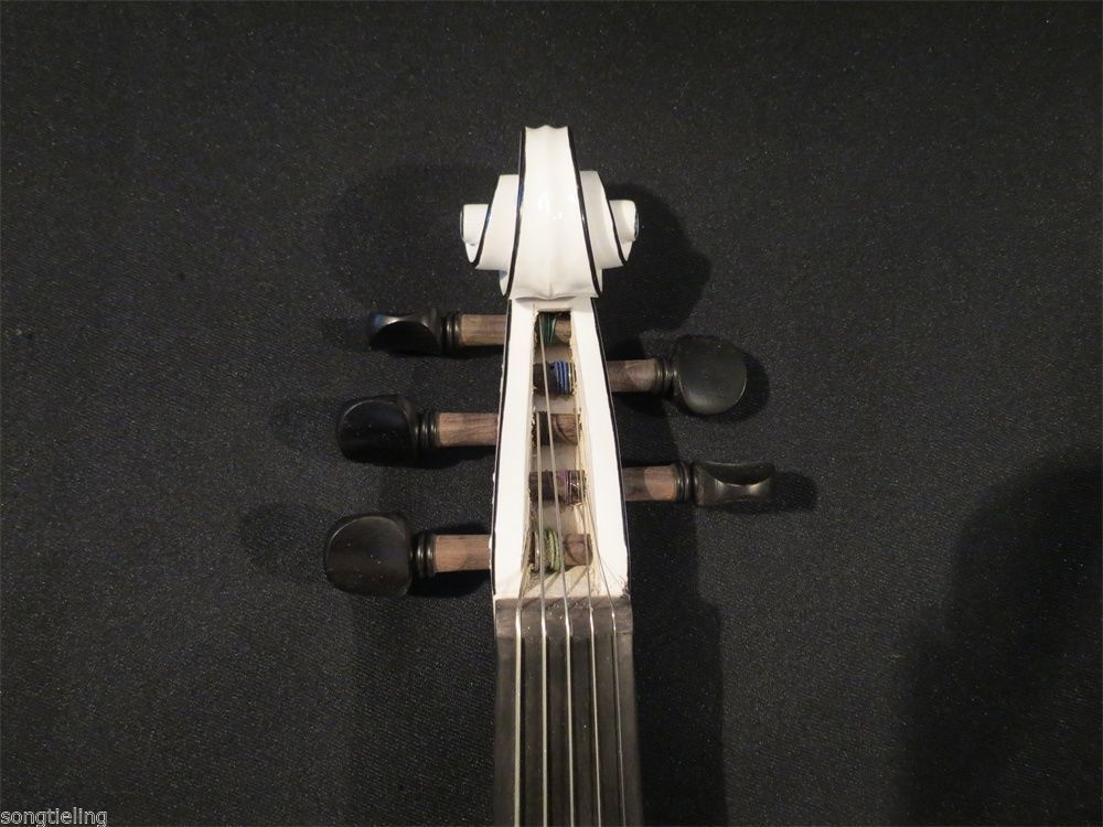 Newly model SONG Brand Top art Crazy-2 white color 5 strings 4/4 electric violin enlarge