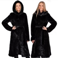s 6xl new fashion imiation mink fur coat faux fur coat female middle aged extra long trench coat women winter clothes