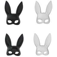 Cosplay Girl Sexy Bunny Ears Mask Cute Bondage Mask Halloween Christmas Fancy Dress Party Game Costu