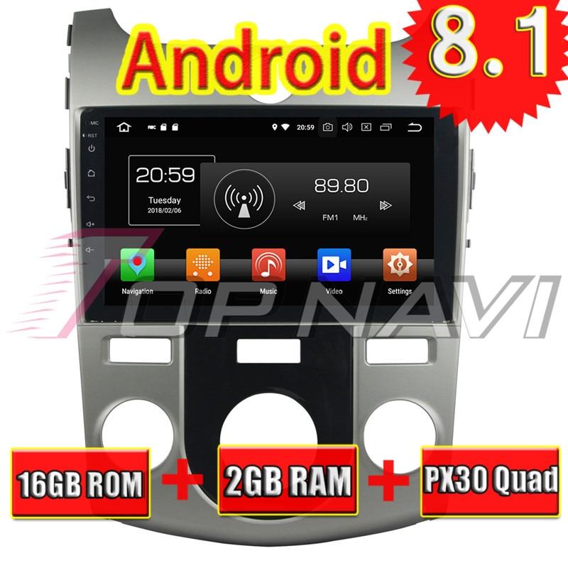 Topnavi 9 Android 8.1 Automotive Multimedia Player para KIA CERATO forte 2008 2009 2010 2011 2012 Car Auto GPS rádio de navegação