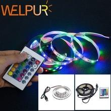 Bande de LED lumière USB 2835SMD DC5V ruban de lampe à LED Flexible rvb 0.5M 1M 2M 3M 4M 5M TV écran de bureau rétro-éclairage Diode bande