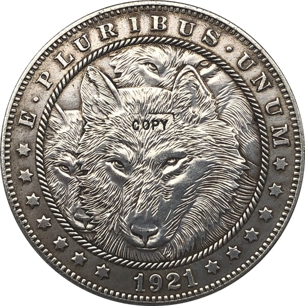 Хобо никель 1921-D сша Морган доллар Монета КОПИЯ Тип 119
