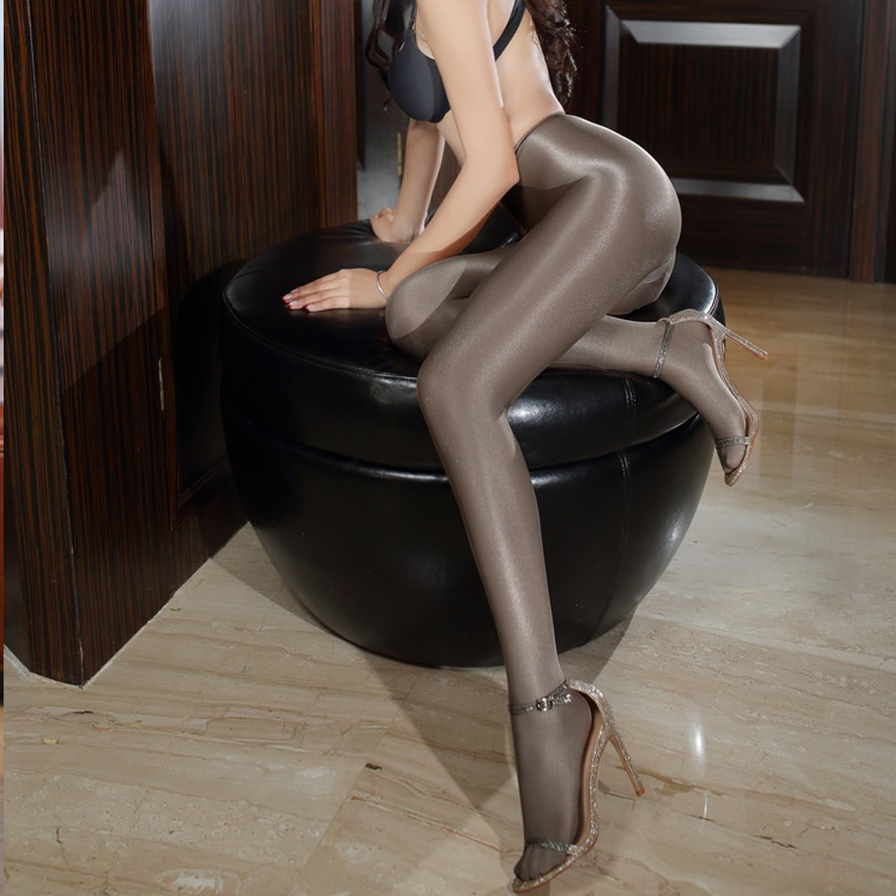 Колготки 70D сексуальные, блестящие, блестящие, масляные, для танцев, тонкие, с хлопковой накладкой 19