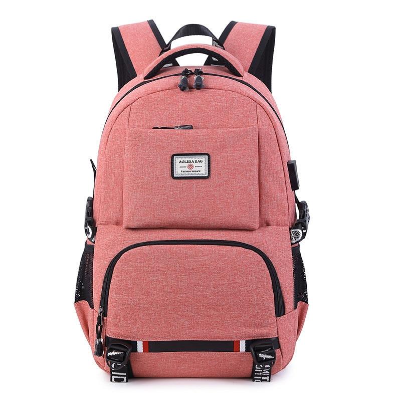 USB Charging Laptop Backpack Women School Backpacks Schoolbag For Teenagers Man Student Book Bag Boys Satchel Travel Bags usb charging backpacks women girls backpack school bags for teenagers 2018 new mochila feminina students satchel high quality