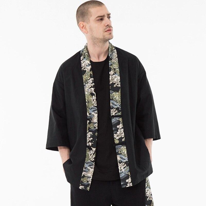 Japonês streetwear vestuário masculino jaqueta bomber quimono japonês tradicional harajuku masculino zz2020