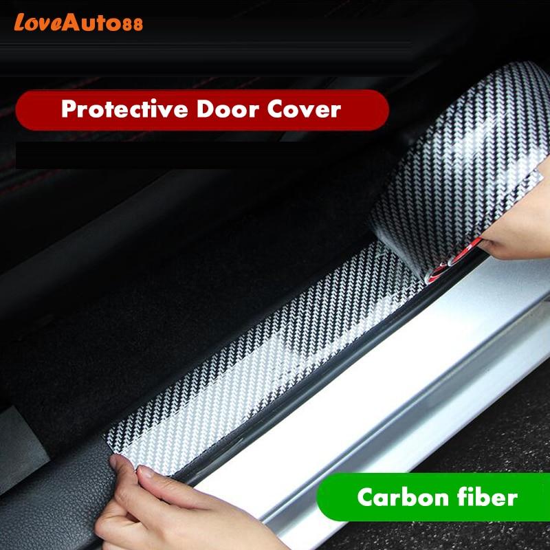 Carbon Fiber 3D Mouldings Strip Bumper Decorative Strips Door Sill Protection Accessories For Hilux Revo 2016 2017 2018 2019