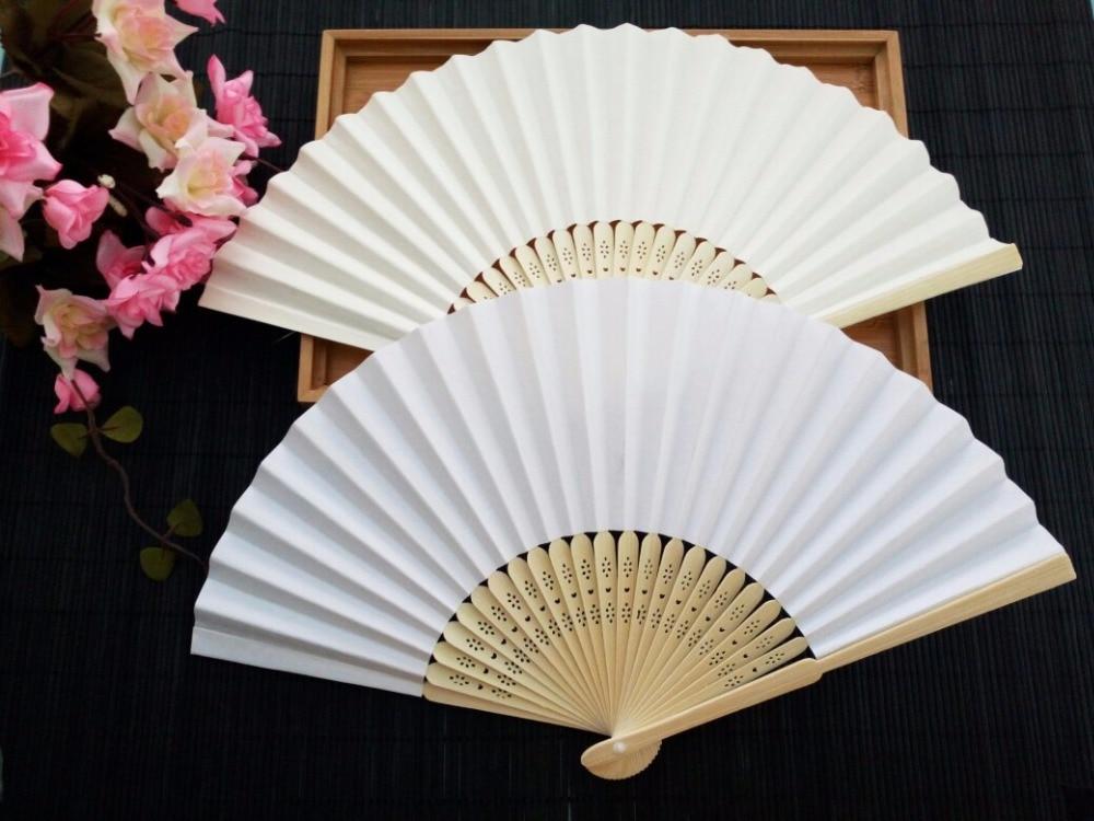 Abanico plegable de bambú para abanicos de papel DIY 150 Uds.