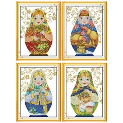 Кукла Everlasting love, Рождественская, русская, Экологичная, хлопковая, китайская, Набор для вышивки крестиком, Счетный 11CT 14CT, распродажа нового магазина