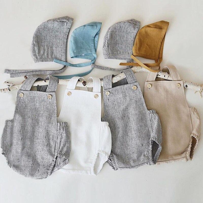Peleles sin mangas de algodón para bebé recién nacido mono de bebé de una sola pieza