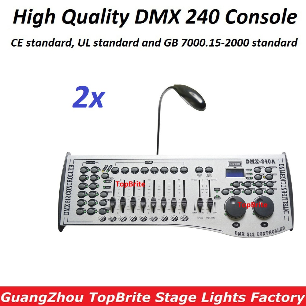 Free Shipping NEW 240DMX Controller DJ Equipment DMX 512 Console Stage Lighting For LED Par Moving Head Wedding DJ Controller
