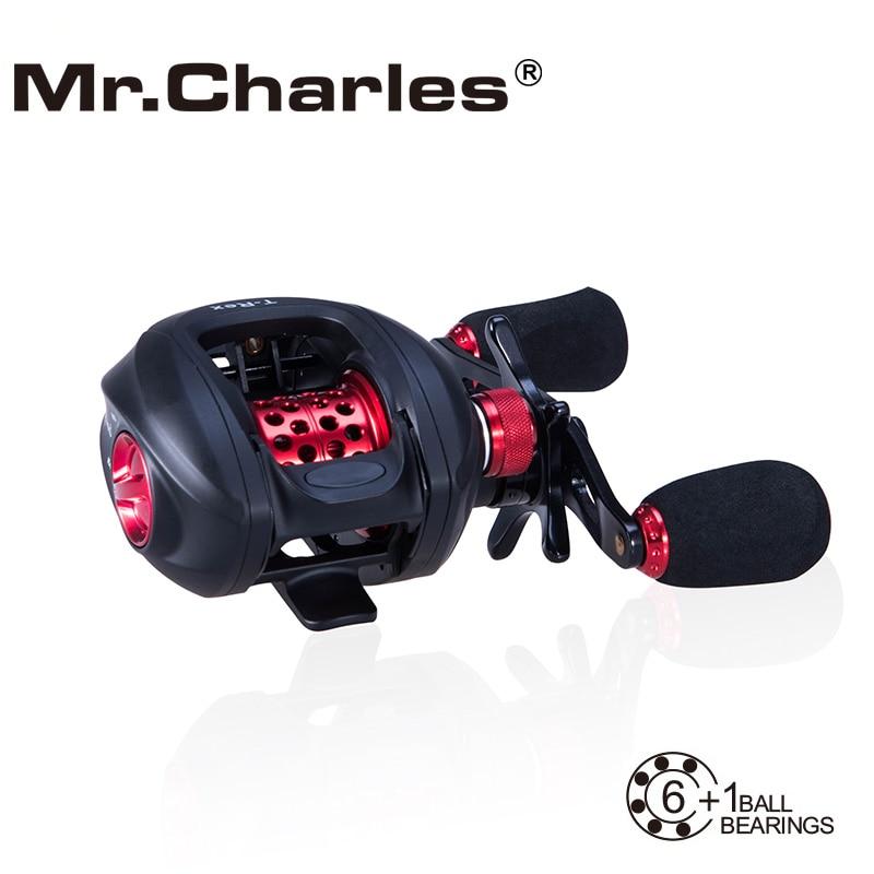 MR.Charles NBC 6BB+RB T-REX Baitcasting Reel Left/Right Hand Bait Casting Fishing Reel Bearing Baitcasting Fihsing Reels