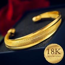 Offre spéciale 18-k-Golden chaîne en or ouvert bracelet charme bracelets pour femme bijoux cadeau de haute qualité livraison gratuite
