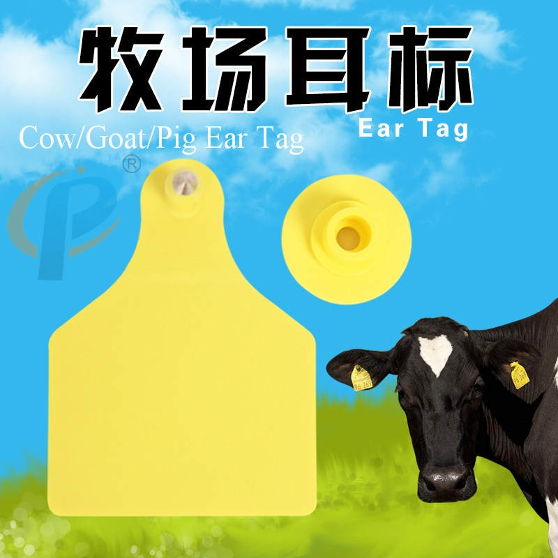 Etiqueta de oreja de ganado de granja de aves de corral etiquetas de oreja de vaca número de tarjeta