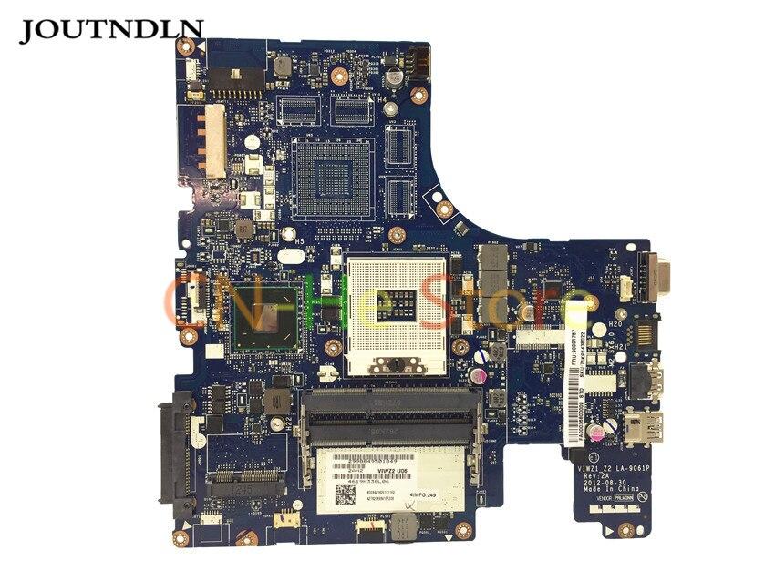 JOUTNDLN para Lenovo Ideapad P500 z500 serie placa base de computadora portátil S989 La-9061p 90001767 HM76 DDR3 gráficos integrados