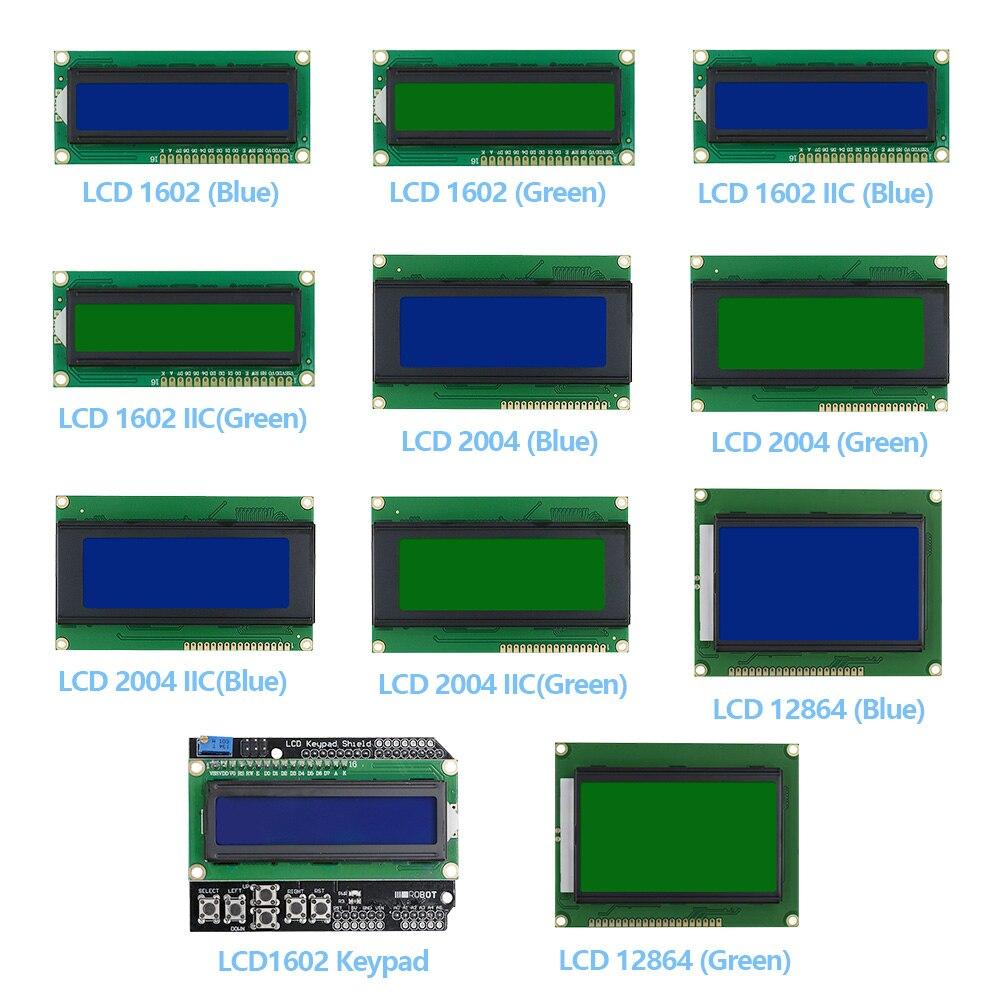 LCD1602 LCD2004 LCD12864 дисплей модуля IIC/I2C, синий/зеленый экран для Arduino для UNO Mega 2560 Raspberry pi