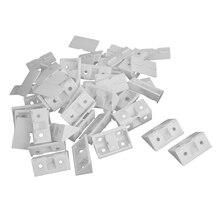 Armoire dangle en plastique de 30 pièces   Armoires dangle à 90 degrés supports angulaires blancs