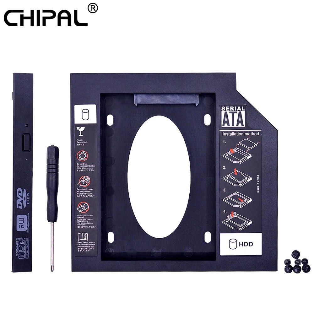 Универсальный пластиковый переходник CHIPAL для установки второго жесткого диска 12,7 мм SATA 3,0 для 2,5 дюйма Чехол для твердотельного накопителя чехол для жесткого диска для ноутбука CD ROM Optibay hdd caddy 12.7mm 2nd hdd caddycaddy 12.7mm   АлиЭкспресс