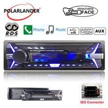 Autoradio panneau amovible de 3.5 pouces   Autoradio 1 Din Audio AM FM TF/USB 12V MP3 stéréo RDS + Bluetooth lecteur cassette
