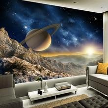 Papier peint Photo 3D personnalisé de haute qualité   Arrière-plan de photographie, univers spatial, décoration de maison, peinture murale, papier Mural de TV, salon