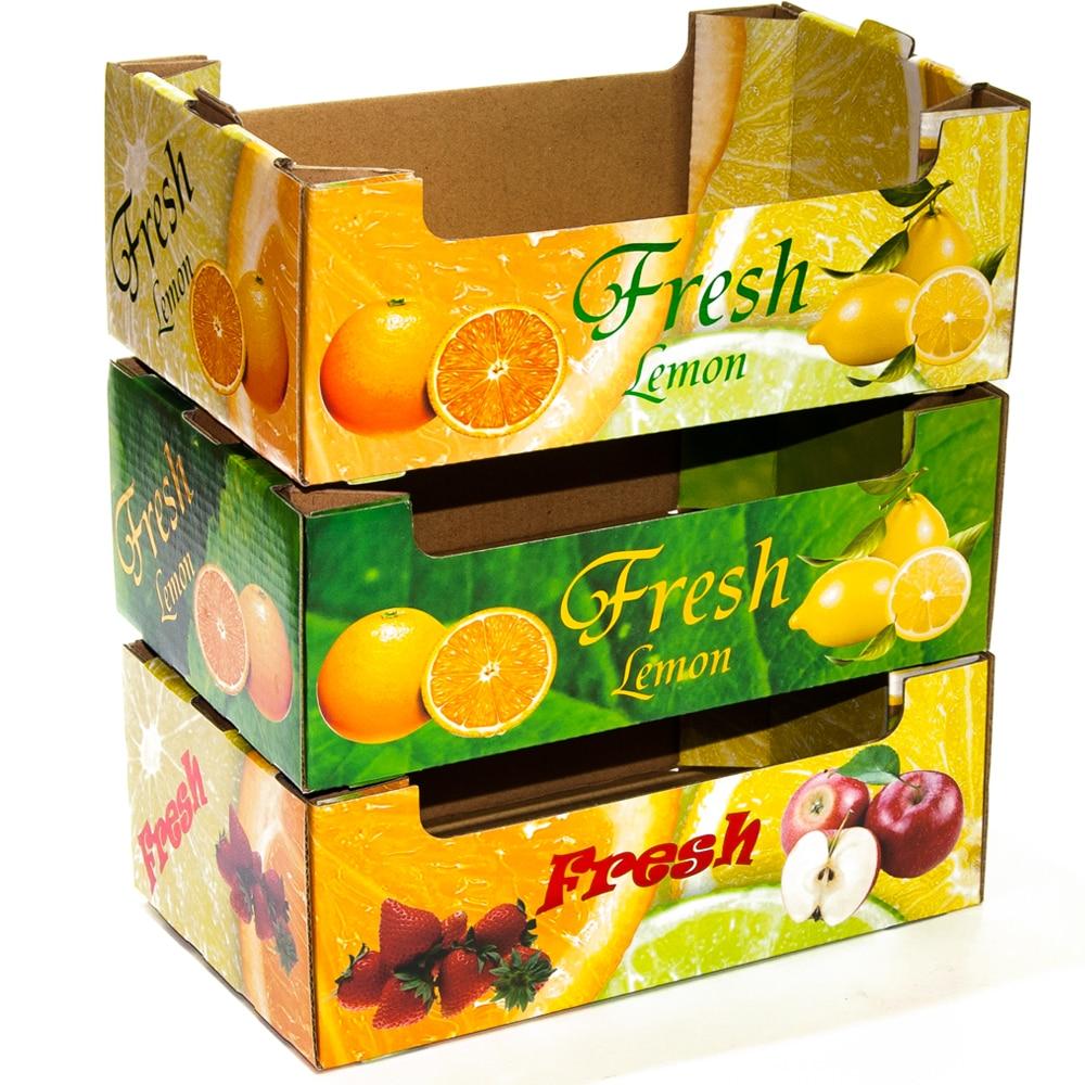 Emballage de boîte de fruits frais de boîte ondulée en gros faite sur commande