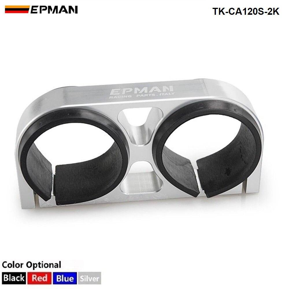 EPMAN Billet aluminium 60MM podwójny filtr paliwa/wspornik pompy/zacisk/uchwyt do pompy paliwa 044 dla Jeep Wrangler 87-06 TK-CA120S-2K