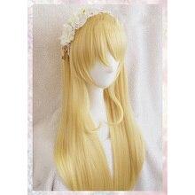 Japonais Anime LoveLive Eli Ayase perruque amour cheveux vivants doré résistant à la chaleur filles femmes perruque LoveLive Eli cheveux + perruque casquette