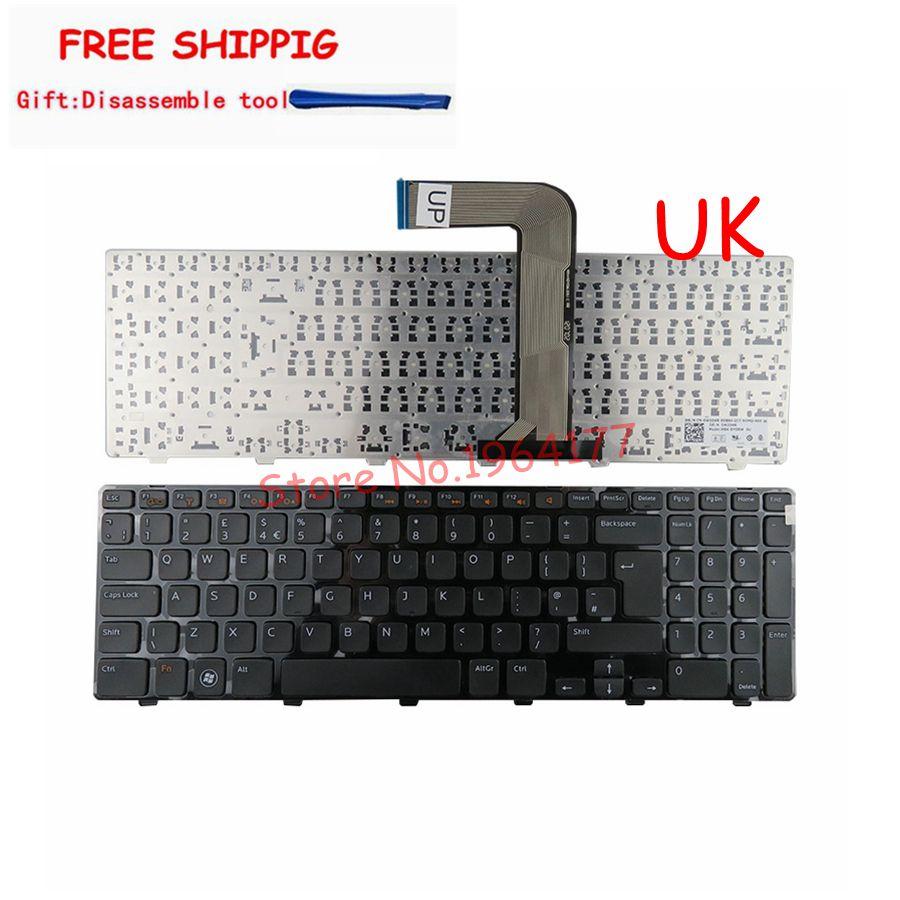 لوحة مفاتيح الكمبيوتر المحمول الإنجليزية لـ DELL ، لـ Inspiron N5110 M5110 M501Z N5110 UK black New V119625AK1 9J.N0H82.L1E