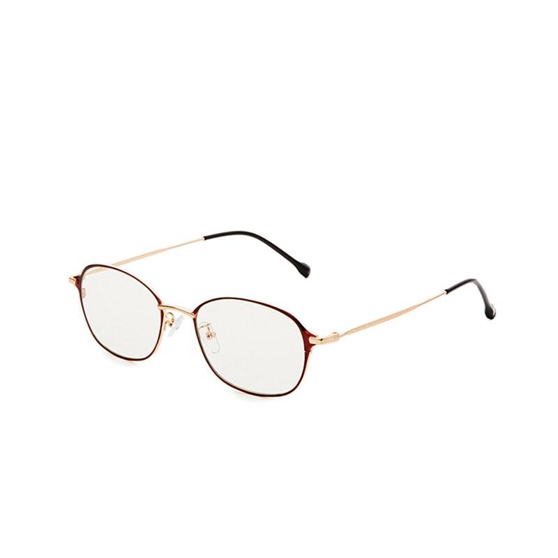 Nuevas gafas anti luz azul marco rojo patas doradas lunette lumiere bleu gafas de mujer para ordenador con estuches 8028flgy