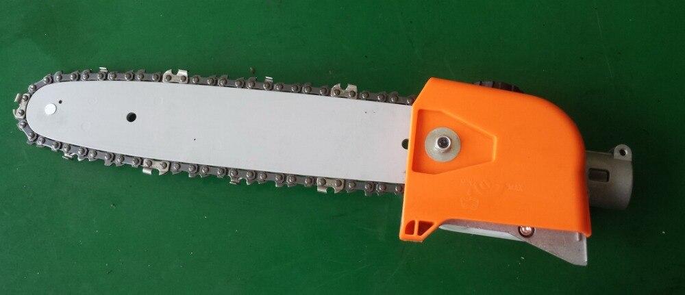 Gasoline power long reach high pruner saw head,saws blades, pole pruning chain saw tool machine head enlarge