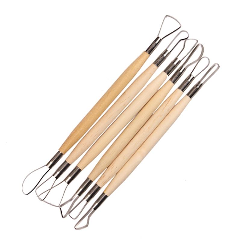 Полезный набор для рукоделия из 6 шт., восковая керамика, глина, инструмент для резьбы по дереву, рукоделие