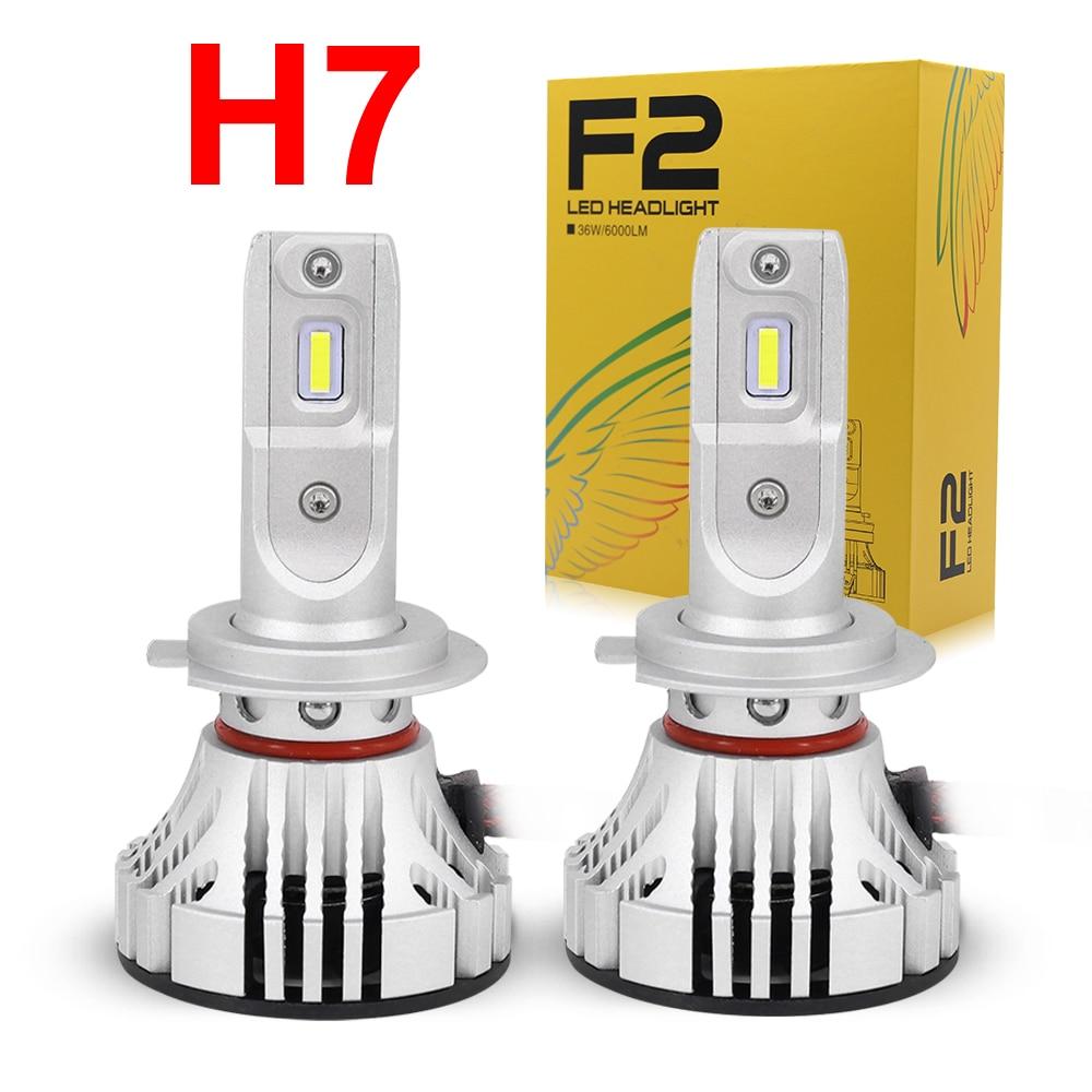 Новинка 1 комплект H7 F2 светодиодные фары 72 Вт 12000LM FLIP Chips Turbo Fan 6K белый идеальный дизайн более яркие автомобильные лампы для вождения
