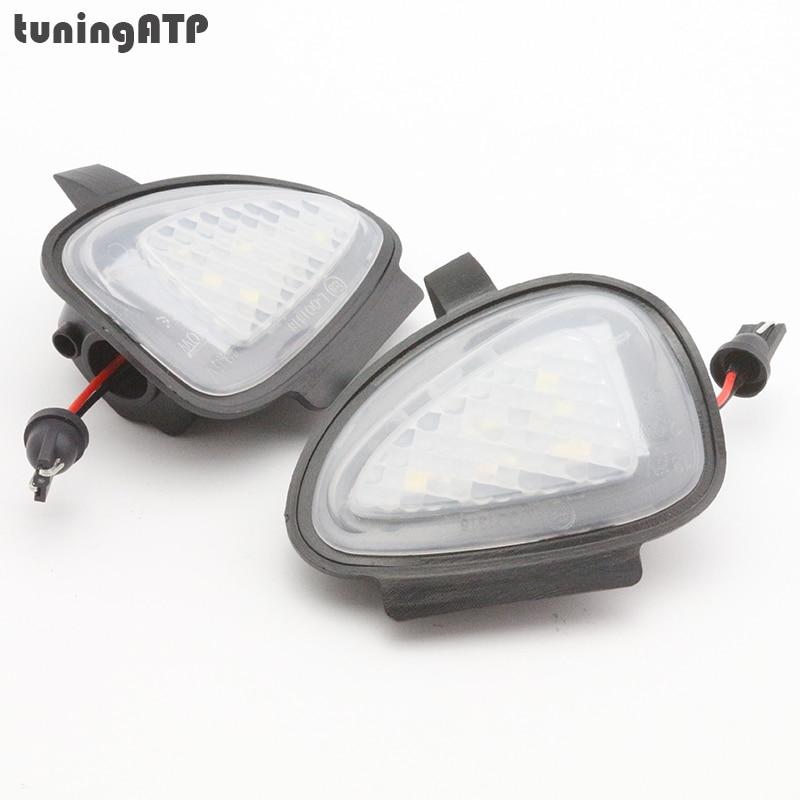 2x LED Under Side Mirror Puddle Lights for Volkswagen VW Golf Mk6 Golf 6 GTI Golf VI Cabrio Touran 2011 Facelift