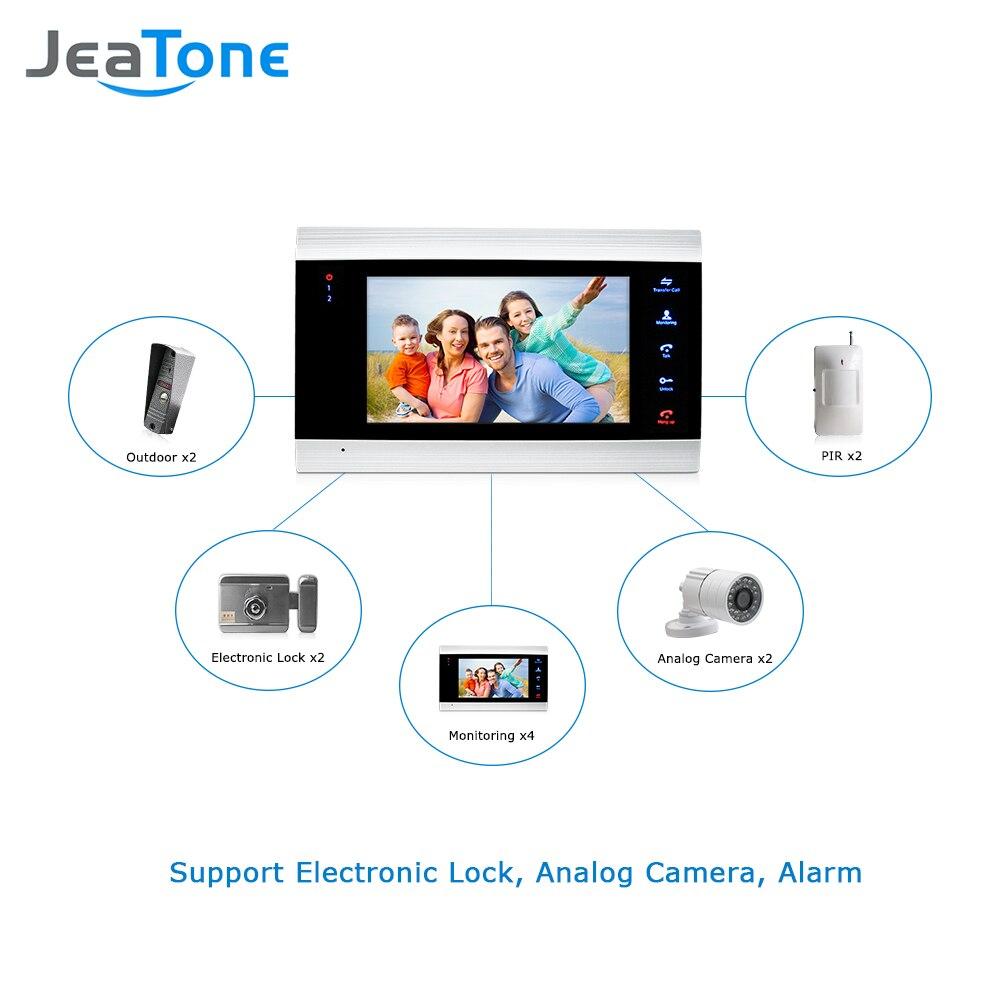 JeaTone 7 Inch Indoor Monitor Video Door Phone Doorbell Intercom System Video Recording Photo Taking Silver Wall Mounting enlarge