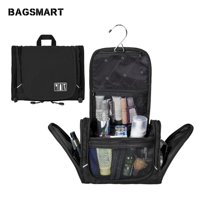 bagsmart waterproof black nylon gown garment bag for traveling with handle lightweight suit bag business men ravel bags for suit BAGSMART Nylon Cosmetic Bag With Hanger Waterproof Toiletry Bag Portable Makeup Bag Unisex Luggage Travel Bags For Suitcase