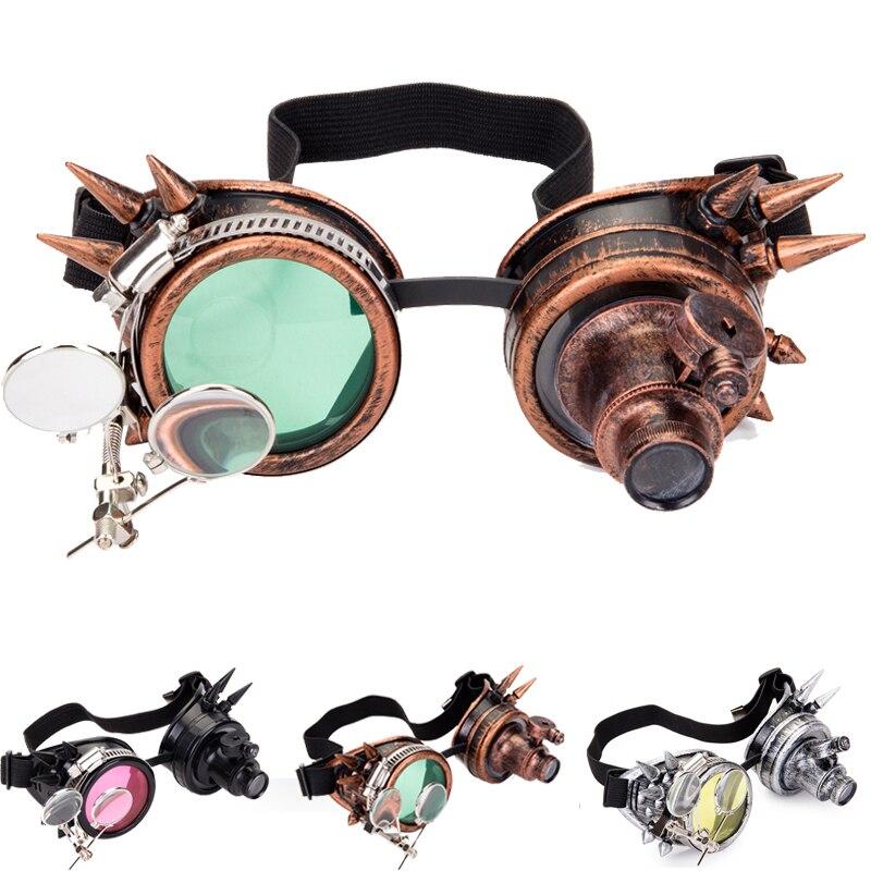 FLORATA Cosplay Vintage remache Steampunk gafas soldadura gótico caleidoscopio colorido Retro gafas