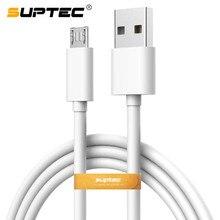 SUPTEC mikro USB kablosu 2A hızlı şarj USB veri cep telefonu kablosu samsung için şarj kablosu Xiaomi Huawei 0.25 m/1 m/1.5 m /2 m/3 m