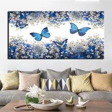 Pared arte Modular lienzo HD impresiones carteles decoración del hogar imágenes 1 pieza abstracto mariposa arte pinturas marco