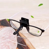 glasses clip magnifier 1 5x 2x 2 5x 3x 4 group lens magnifying glass jewelry identification watch repair tool magnifying glass